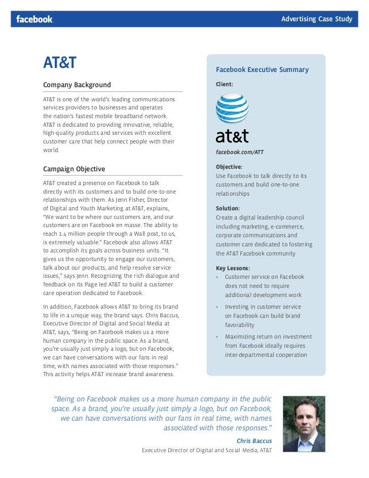 Advertising Case StudyAT&T                                                                Facebook Executive SummaryCompan...