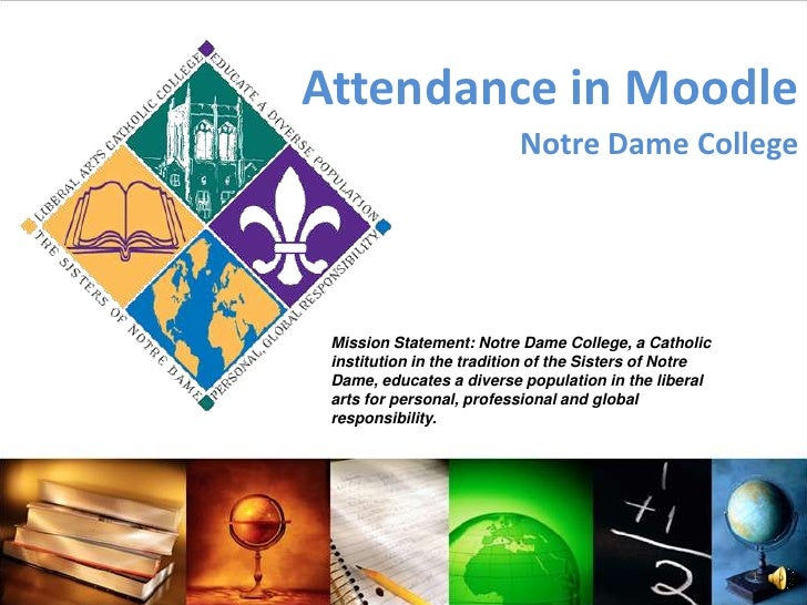 Notre Dame College Moodle Training - Attendance