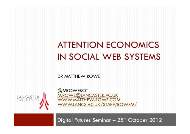 Attention Economics in Social Web Systems