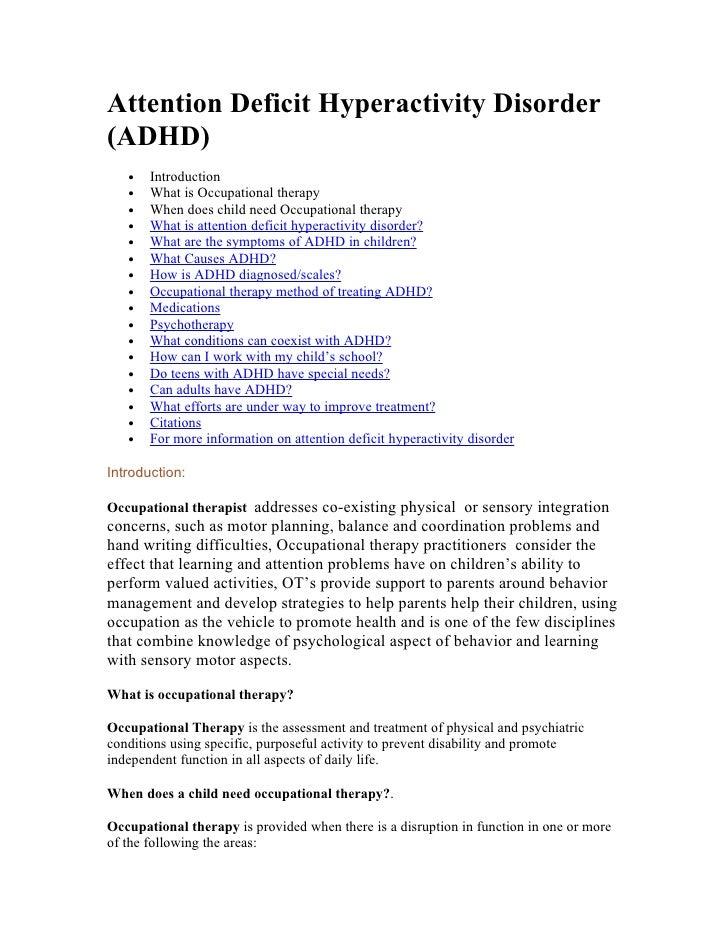 imipramine attention deficit disorder