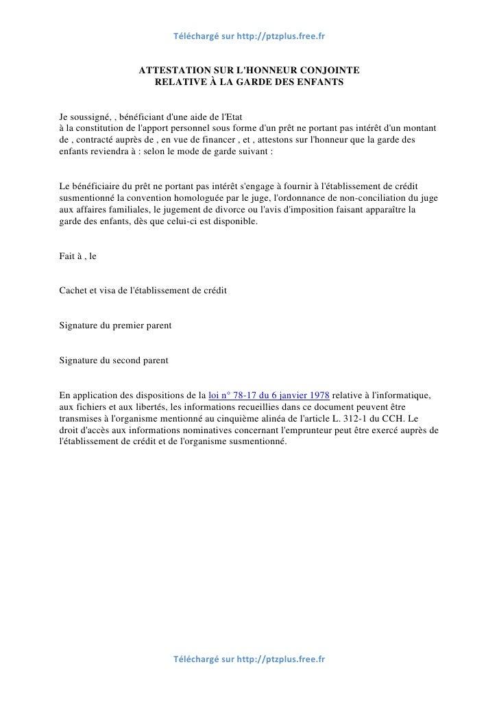 Modele attestation garde photo vu sur fr slideshare net