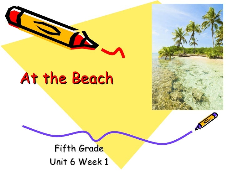 At the beach vocabulary words