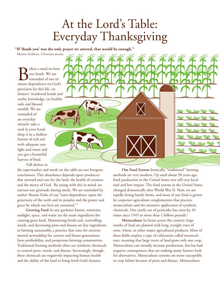 """At the Lord's Table:                          Everyday Thanksgiving""""If 'thank you' was the only prayer we uttered, that wo..."""