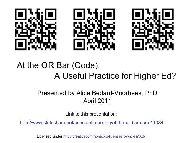 At the qr bar (code).11084