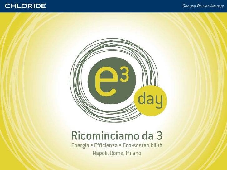 Atti Convegno E3 Day Chloride Milano 16 Febbraio 2010