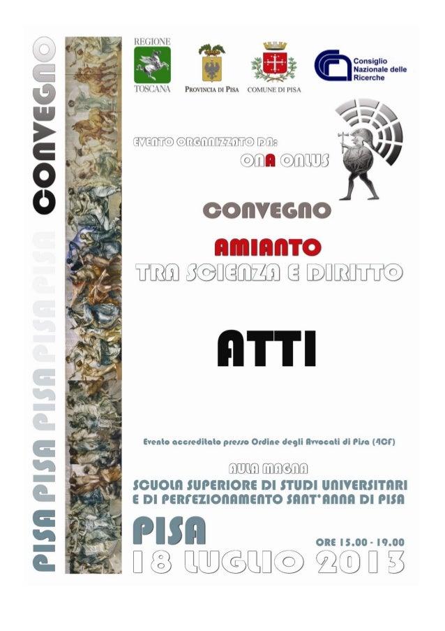 ©Osservatorio Nazionale sull Amianto ONA Onlus Proprietà letteraria riservata ISBN 978-88-909105-0-0 Osservatorio Nazional...