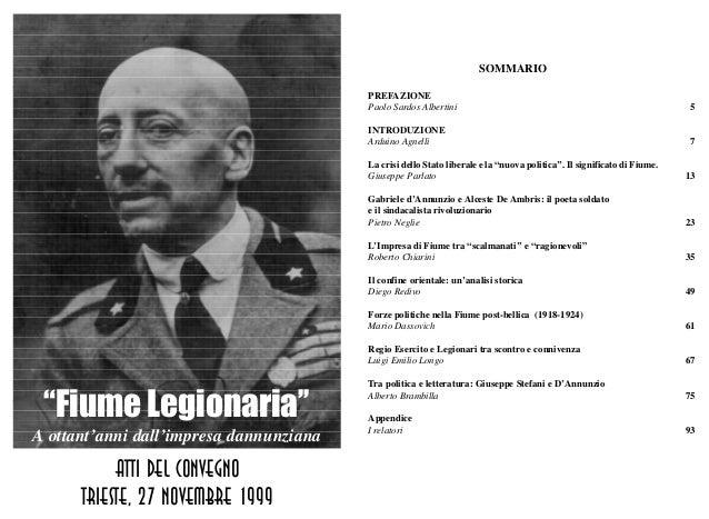 """Atti del convegno """"Fiume legionaria"""" (1999)"""