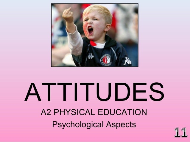 ATTITUDES A2 PHYSICAL EDUCATION Psychological Aspects