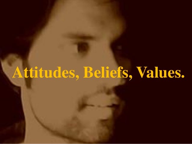 Attitudes beliefs values ppt  of MBA