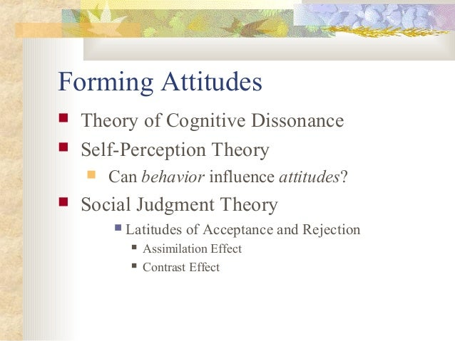 self perception theory essay Summary: self-perception theory describes the process in which people, lacking  initial attitudes or emotional responses, develop them by.
