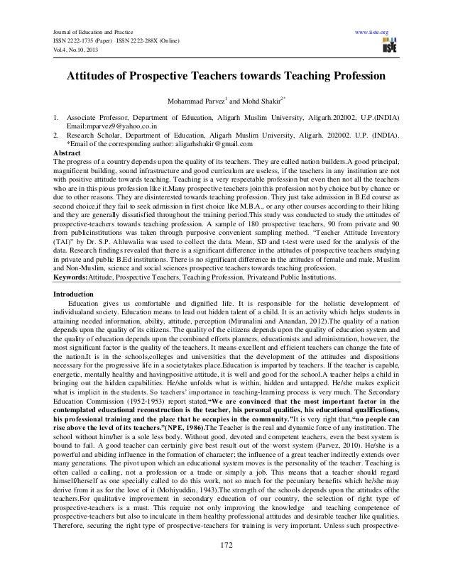 Attitudes of prospective_teachers_towards_teaching_profession