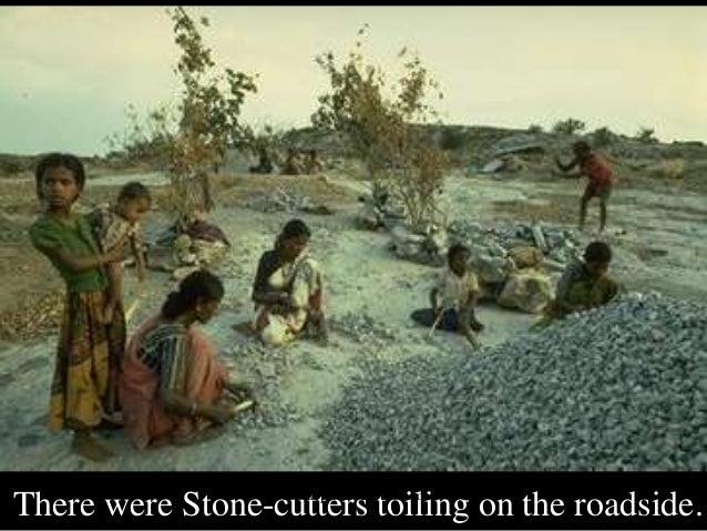 Attitude stone cutter
