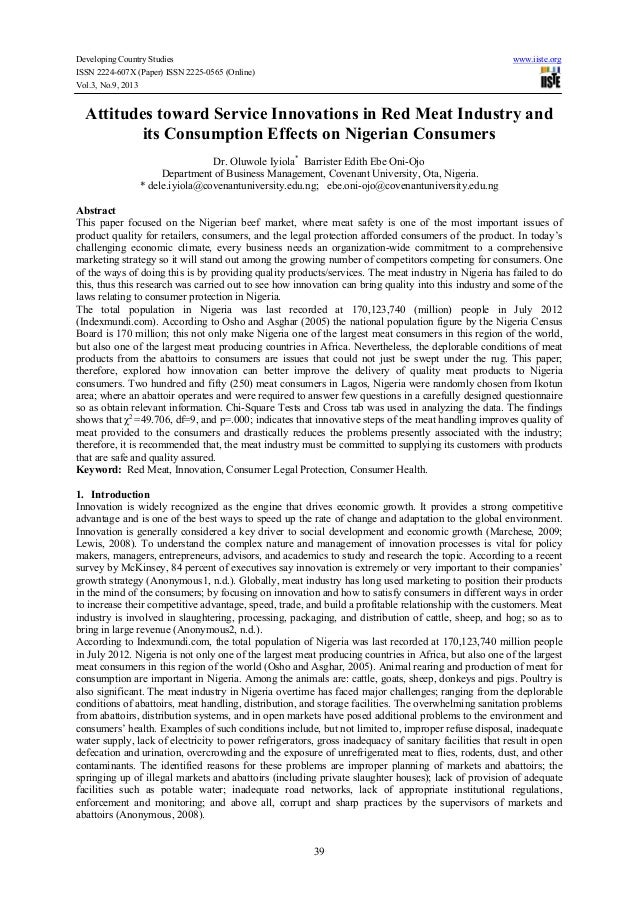 Developing Country Studies ISSN 2224-607X (Paper) ISSN 2225-0565 (Online) Vol.3, No.9, 2013  www.iiste.org  Attitudes towa...