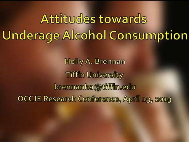 Attitudes towards Underage Alcohol Consumption
