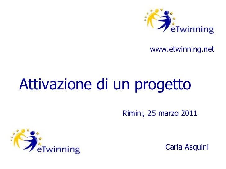 eTwinning Attivazione di progetto