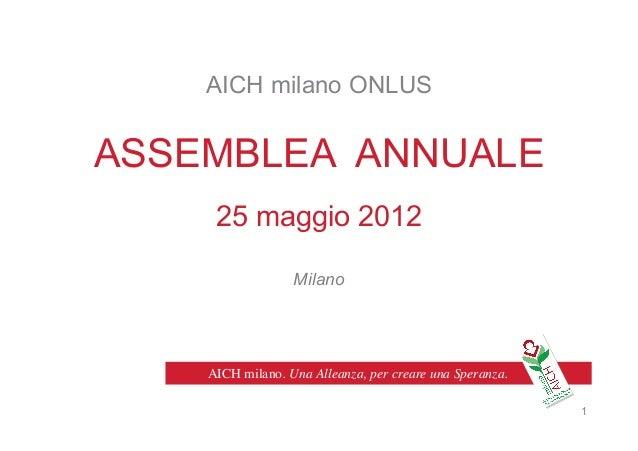Attività 2012 - Relazione assemblea annuale 2013