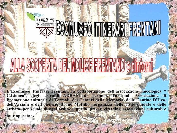 """L'Ecomuseo Itinerari Frentani, in collaborazione dell'associazione micologica """" C.Linneo"""", degli astrofili ADRAM di Termol..."""