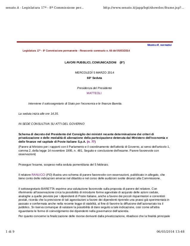 senato.it - Legislatura 17ª - 8ª Commissione per...  http://www.senato.it/japp/bgt/showdoc/frame.jsp?...  Mostra rif. norm...
