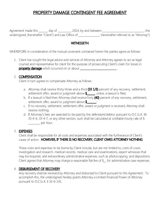Sample Retainer Agreements