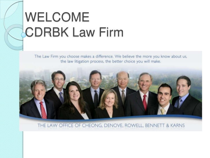 WELCOMECDRBK Law Firm