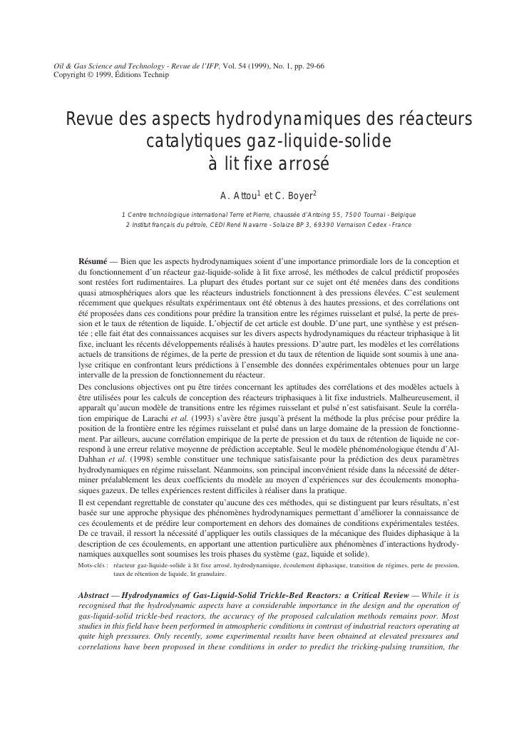 Oil & Gas Science and Technology - Revue de l'IFP, Vol. 54 (1999), No. 1, pp. 29-66 Copyright © 1999, Éditions Technip    ...