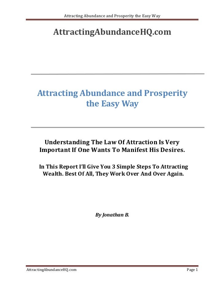 Attracting abundance and prosperity the easy way
