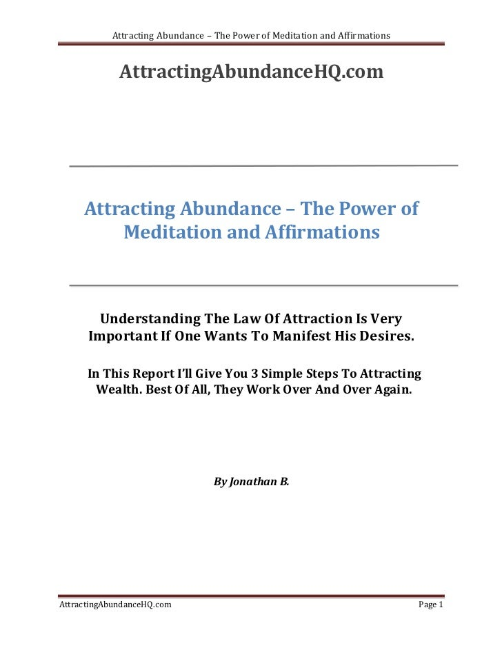 Attracting abundance – the power of meditation and affirmations