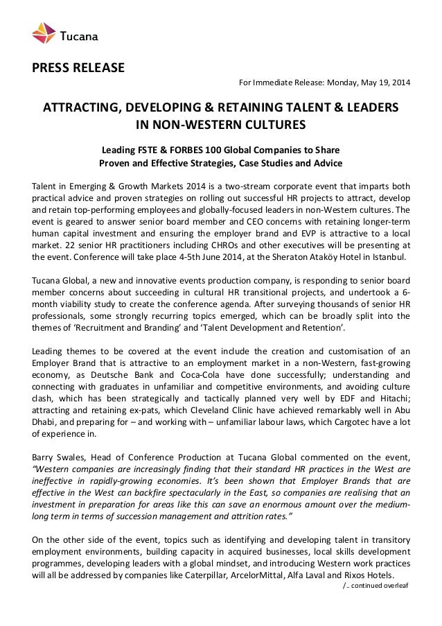 PRESS  RELEASE   For  Immediate  Release:  Monday,  May  19,  2014      ATTRACTING,  DEVELOPI...