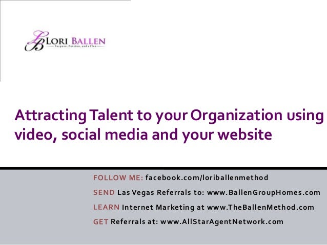 Attracting talent to your organization using video   Lori Ballen