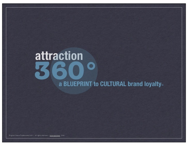 attraction                                   360°                        a BLUEPRINT to CULTURAL brand loyalty   ™copyrigh...