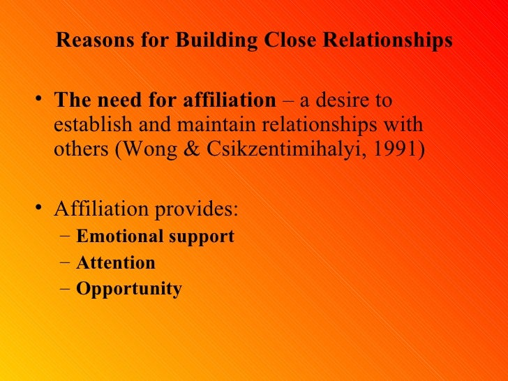 Reasons For Building Close