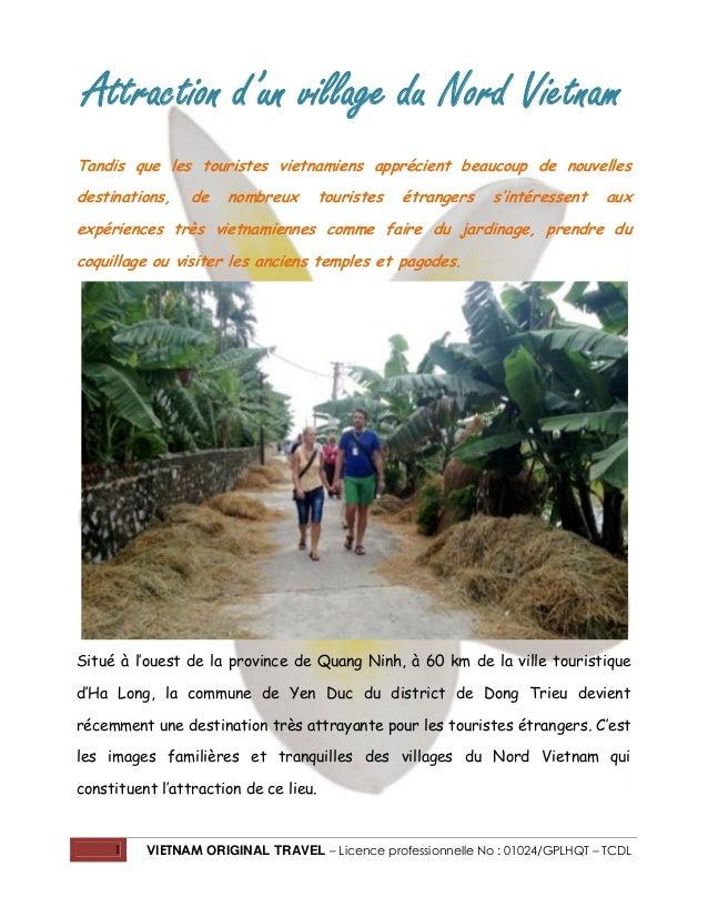 Attraction d'un village du Nord Vietnam Tandis que les touristes vietnamiens apprécient beaucoup de nouvelles destinations...
