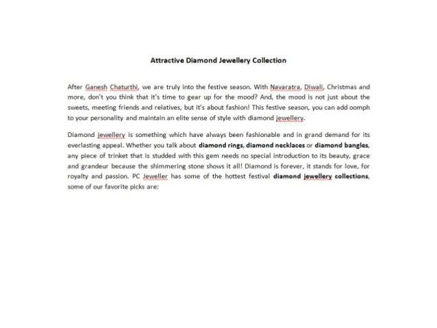 Attractive Diamond Jewellery Collection