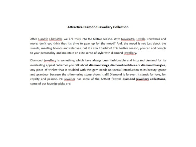 Attractive Diamond Jewellery Collection