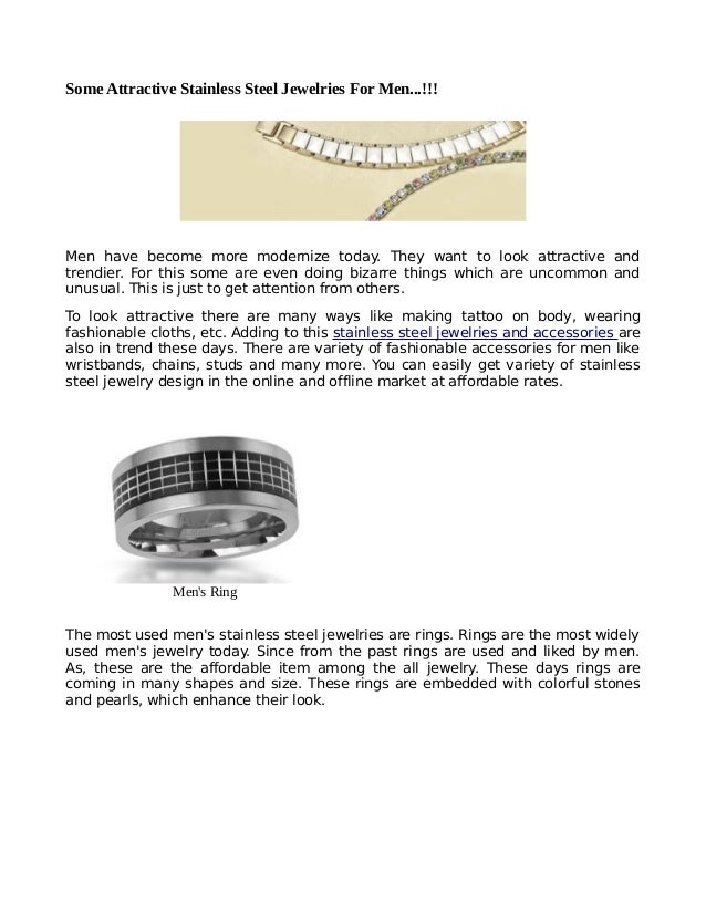 Attractive stainless steel jewelries