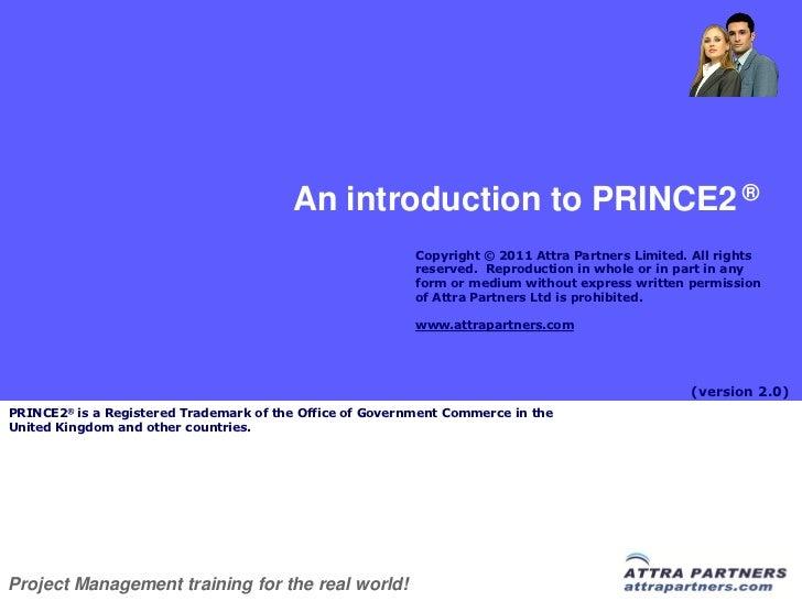 Attra Partners Prince2 Intro