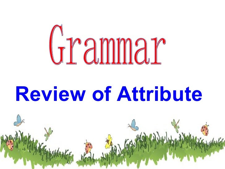 Grammar Review of Attribute