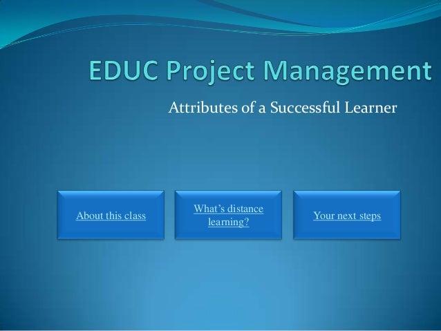 Attributes succesful learner