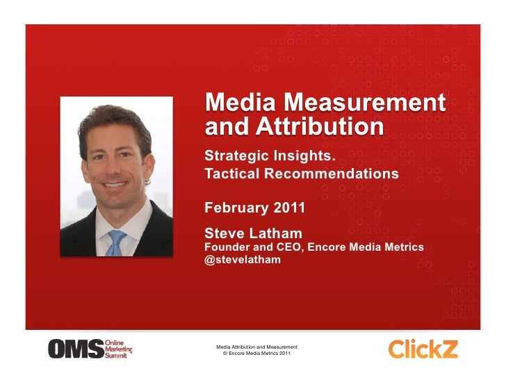 Strategic Insights.Tactical RecommendationsFebruary 2011Steve LathamFounder and CEO, Encore Media Metrics@stevelatham  Med...