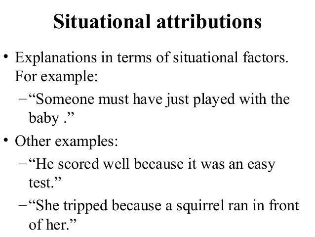 attribution research paper Research papers 786 words (22 pages) the theory of attributions essay - attributions are referred to as the causes of behaviour, and these can be viewed as dispositional or situational.