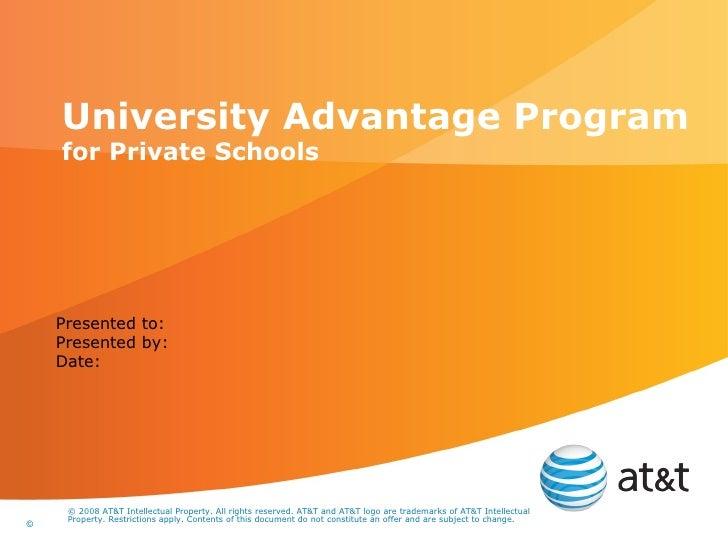 At&t sales tools   university advantage-program-private_schools-sales_presentation