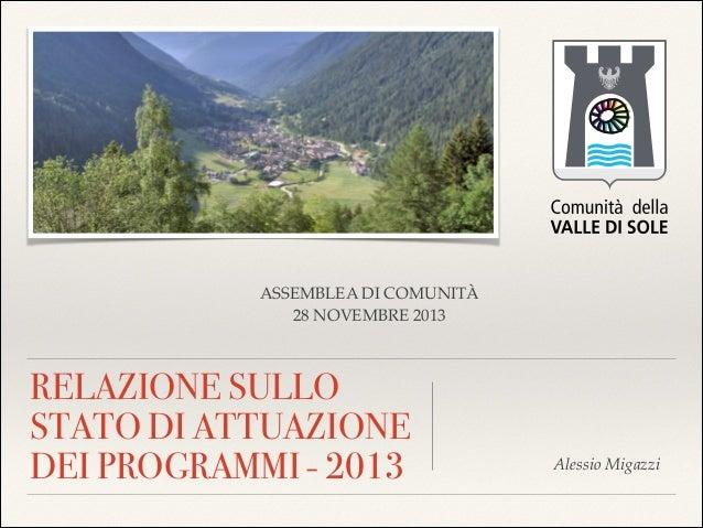 Attuazione programmi 2013