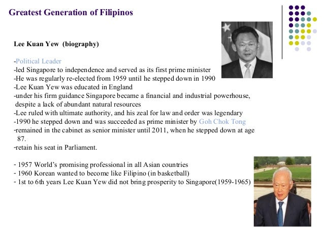 lee kuan yew essay Free essay: his father including his family was influenced by british culture because his father obtained first transformational leadership of lee kuan yew.