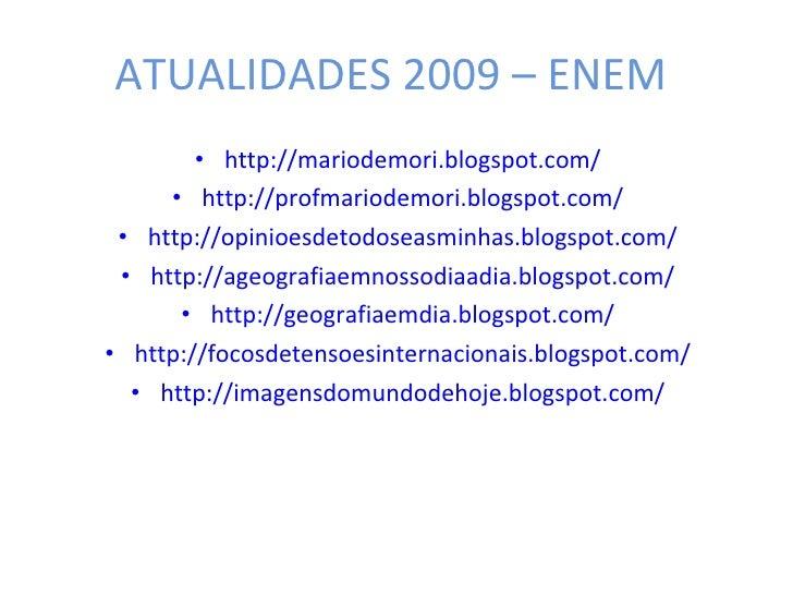 Atualidades Enem   2009   Parte 01