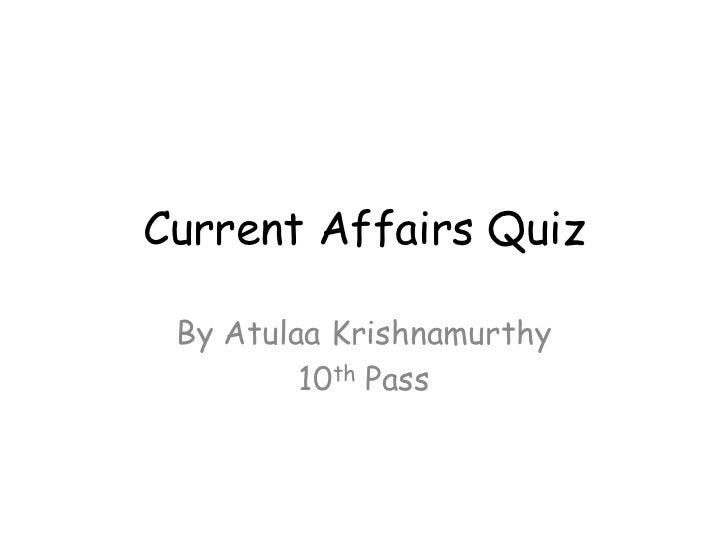 Atulaa current affairs