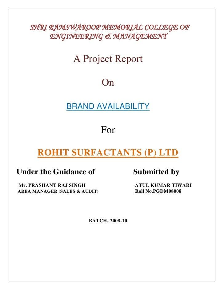 RSPL brand availability