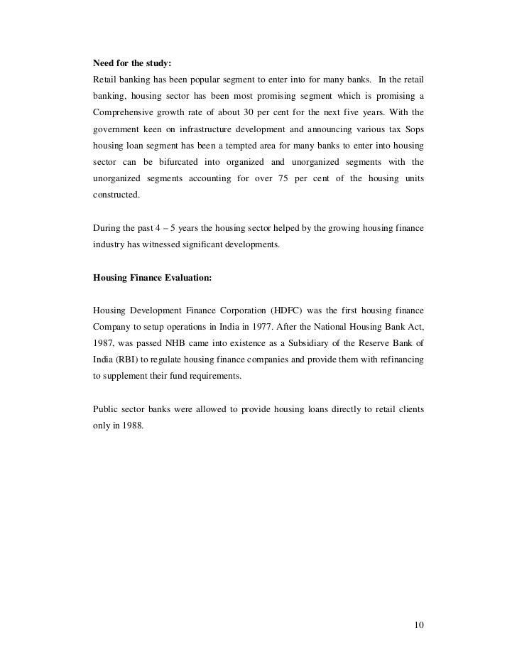 study of the procedure of disbursement of home loan of