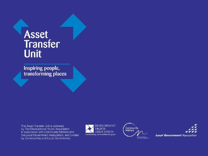 Asset Transfer unit Transforming Communities 23rd March