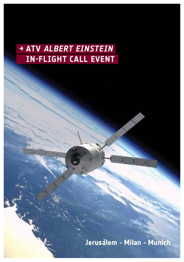 →ATV Albert Einstein  In-flight Call Event  Jerusalem - Milan - Munich