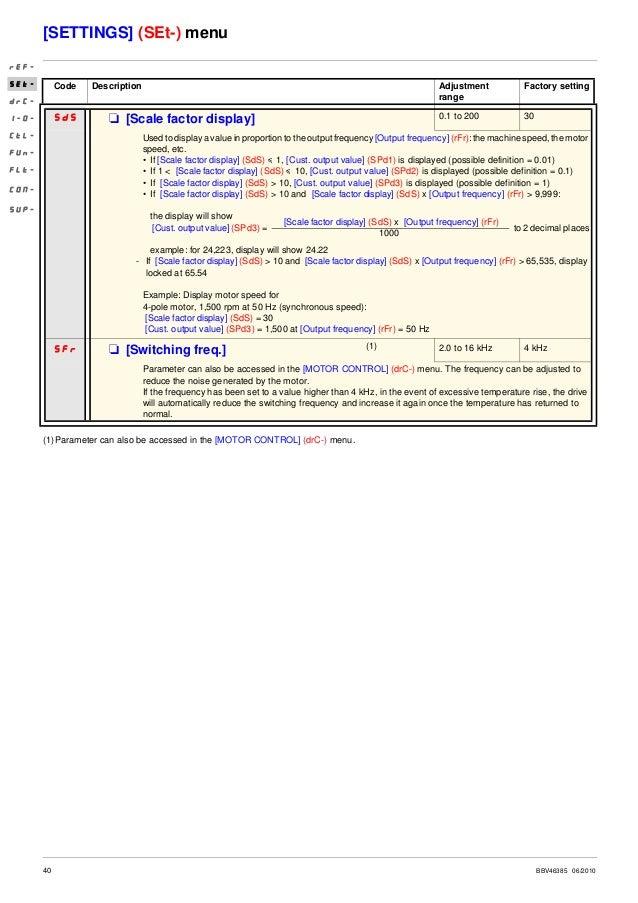 Quick start guide atv312 for Schneider motor starter selection guide